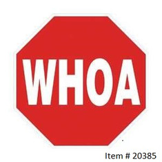 "WHOA sign / 12"" Octagon"