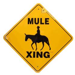 """Mule Xing / 12""""x12"""" / Yellow & Black"""