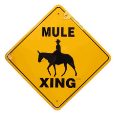 "Mule Xing / 12""x12"" / Yellow & Black"