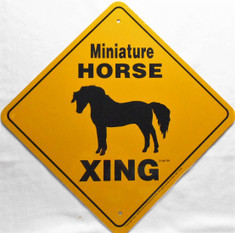 "Miniature Horse Xing / 12"" x 12"" / Yellow & Black"