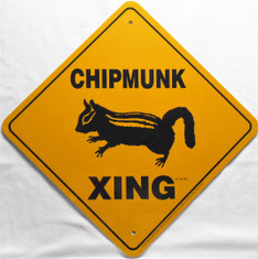 "Chipmunk Xing  /  12"" x  12"" / Yellow & Black"