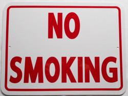 """No Smoking / 9""""H x 12"""" W / White & Red"""