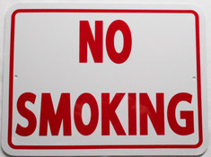 "No Smoking / 9""H x 12"" W / White & Red"