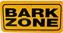 "BARK ZONE / 6""x12"" / Yellow & Black"