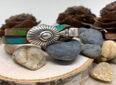 """Sunburst Bracelet """"Canyon"""" Leather"""