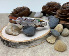 "Feather Bracelet ""Canyon"" Leather"