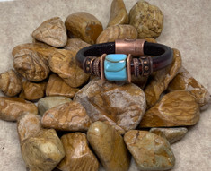 Colorado Montana Leather Design Bracelet