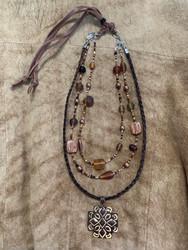 Layered Necklace - Brown