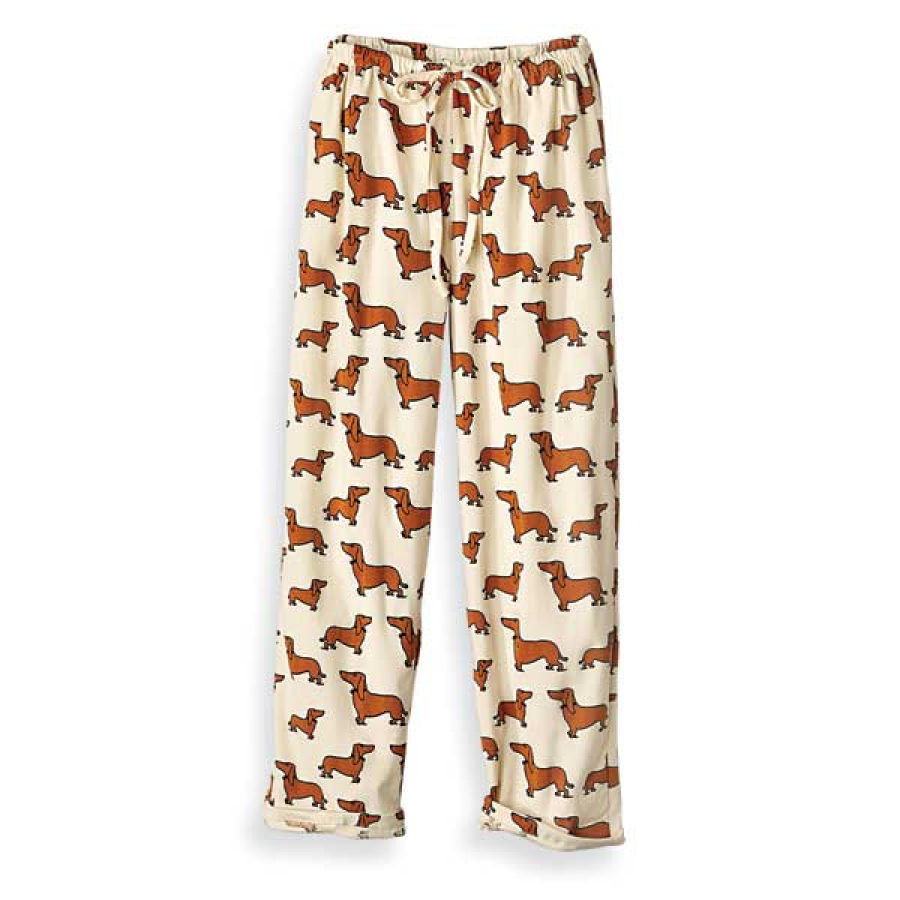 Dachshund Pajama Pants Dachshund Sleepwear