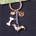 Four Charm Dachshund Key Ring