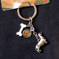 Three Charm Dachshund Key Ring