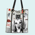 Dachshund Shopping Tote Bag Front View
