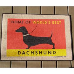 Home Of World's Best Dachshund Doormat