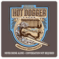 Hot Dogger Lager Coaster
