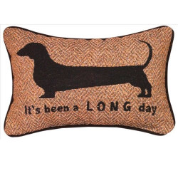 "It""s Been A Long Day Dachshund Pillow"