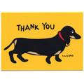 Black/tan Dachshund Thank You Card