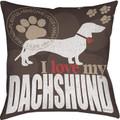 I Love My Dachshund Pillow