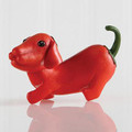 Red Bell Pepper Dachshund Figurine