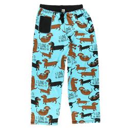 Blue Dachshund Pajama Pants