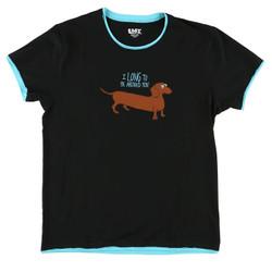 Black Dachshund Pajama Shirt