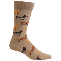 Men's Hemp Colored Dachshund Socks