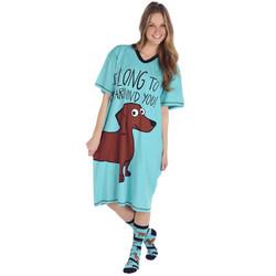 Blue Dachshund Nightshirt