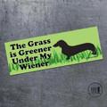 The Grass Is Greener My Wiener Magnet
