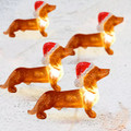Santa Dachshund Christmas String Lights