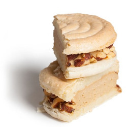Salty Caramel with Smoked Almonds Ice Cream Sandwich 4-Pack