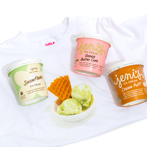 Jeni's × GOLF le FLEUR* Limited Edition Snowflake Pack - Jeni's Splendid Ice Cream