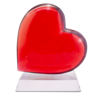 Giant Acrylic Heart Sculpture, Crimson