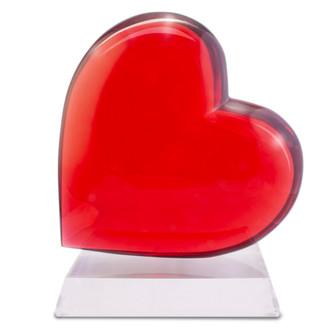 Giant Acrylic Heart Sculpture, Crimson