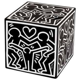 Ottoman Keith Haring's Happy Family, Black