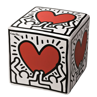 Ottoman Keith Haring's Men With Heart