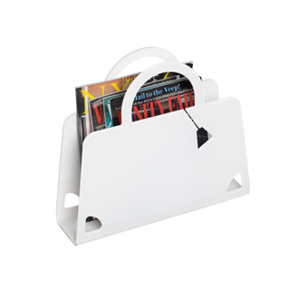 Purse Magazine Holder, White