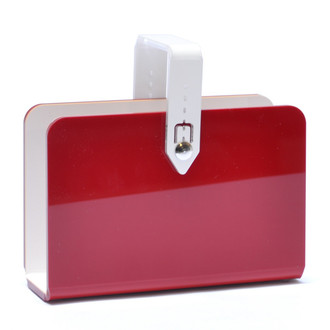 Basket Mail Holder, Red
