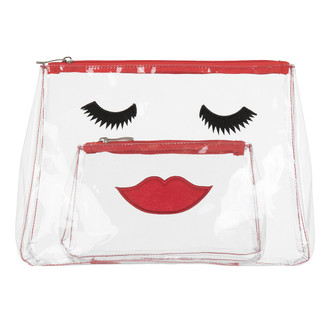 Lovely Lashes Travel/Cosmetic Bag, Red