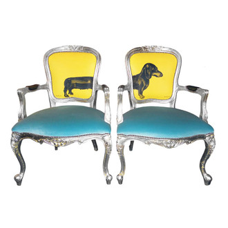 Sausage Dog Chairs, Tourquoise