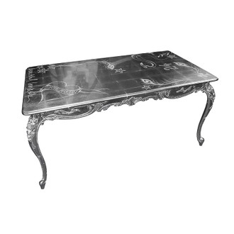 Dining Table, Silver Leaf