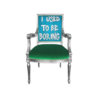 """I Used To Be Boring"" Armchair"