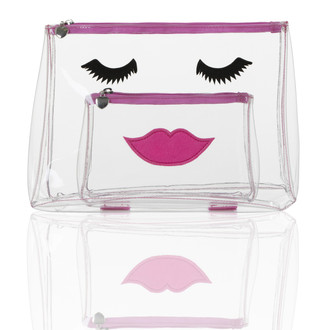 Lovely Lashes Travel/Cosmetic Bag, Pink