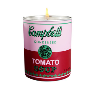 Andy Warhol Campbell's Soup Can Candle, Pink/Red