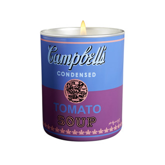Andy Warhol Campbell's Soup Can Candle, Blue/Purple