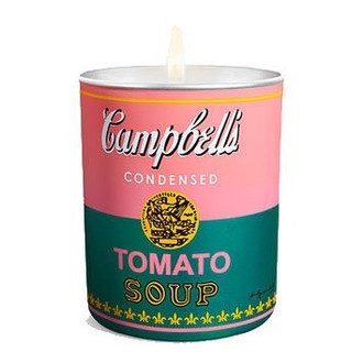 Andy Warhol Campbell's Soup Can Candle, Pink/Green
