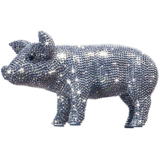 Crystal Piggy Bank, Graphite