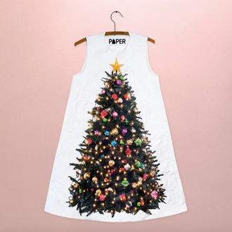 Paper Dress Christmas Tree