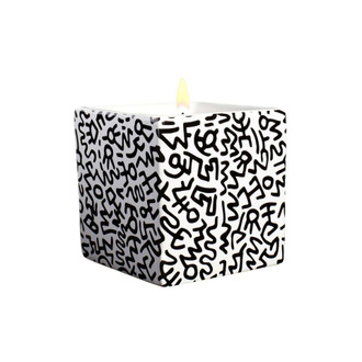 Keith Haring Square Candle, Black