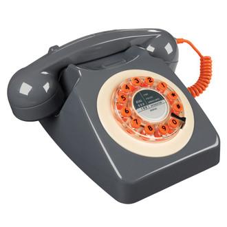 Retro 60's Phone, Concrete Grey