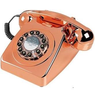 Retro 60's Phone, Metallic Copper