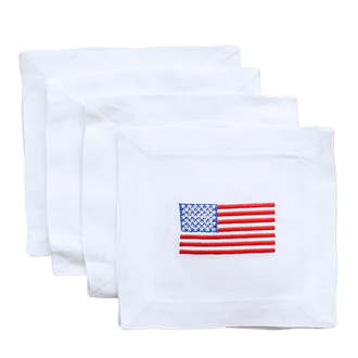 Cocktail Napkins American Flag